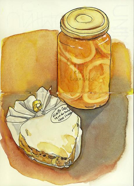 Oranges et pain epices