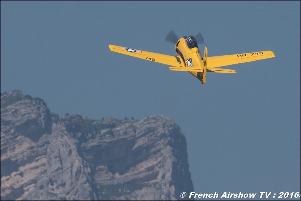North American T-28C Trojan - F-AZHR ,Aéro Fox, cederic rut , Grenoble Air show 2016 , Aerodrome du versoud , Aeroclub du dauphine, grenoble airshow 2016, Rhone Alpes