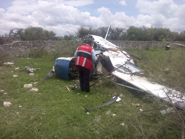 Se desploma avioneta en Tlajomulco