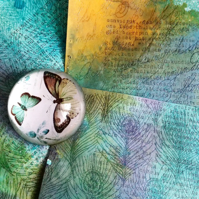 Working on some #mailart backgrounds #lostcoastdesigns #mailartists #timholtz #embossing #wow #pressepapier #colorful #colorcoordination