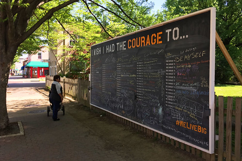 Looking at the Courage Wall