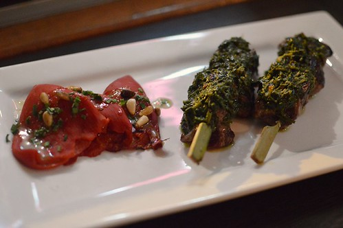 Piquillo fire-roasted peppers, kangaroo skewers