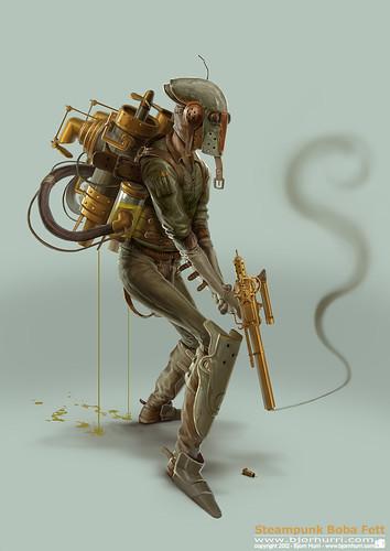 Steampunk Star Wars by Bjorn Hurri - Boba Fett