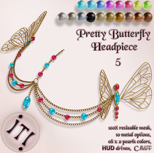!IT! - Pretty Butterfly Headpiece 5 Image