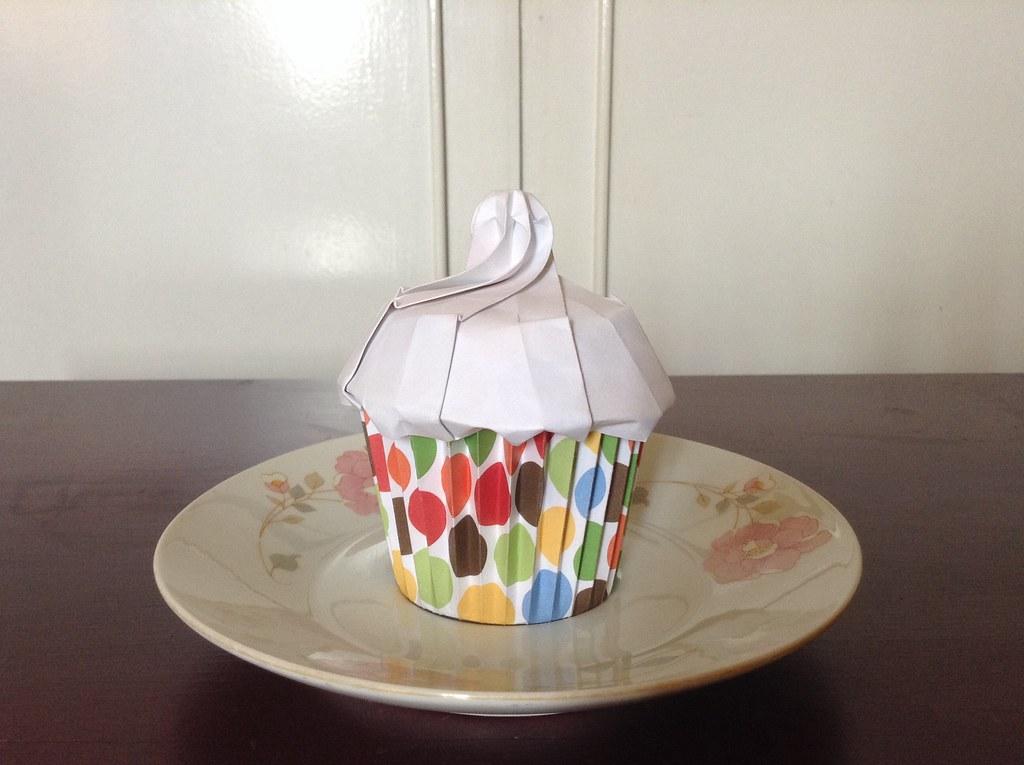 Origami Cupcake Designed By Me Alphonsus Nonog Flickr