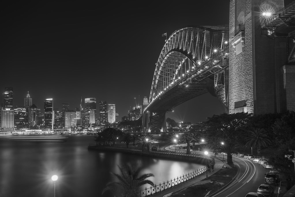 Sydney Harbour Bridge in Black and White