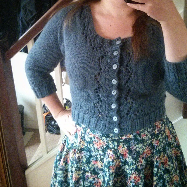 #mmm15 day 25 - #andisatterlund Miette cardigan & RTW dress
