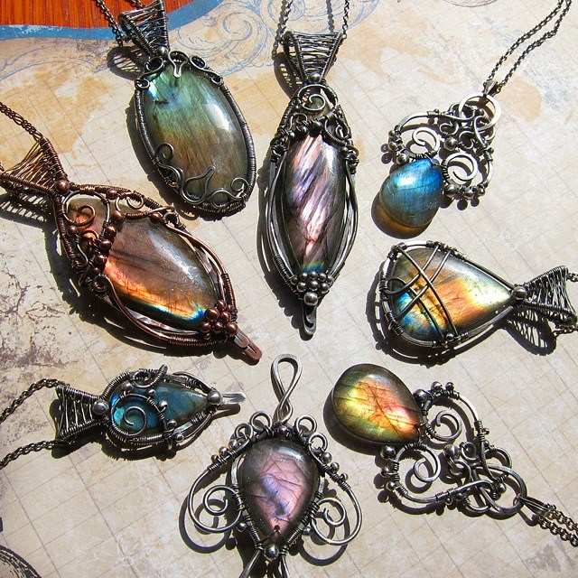 New Labradorite Pendants 6/10