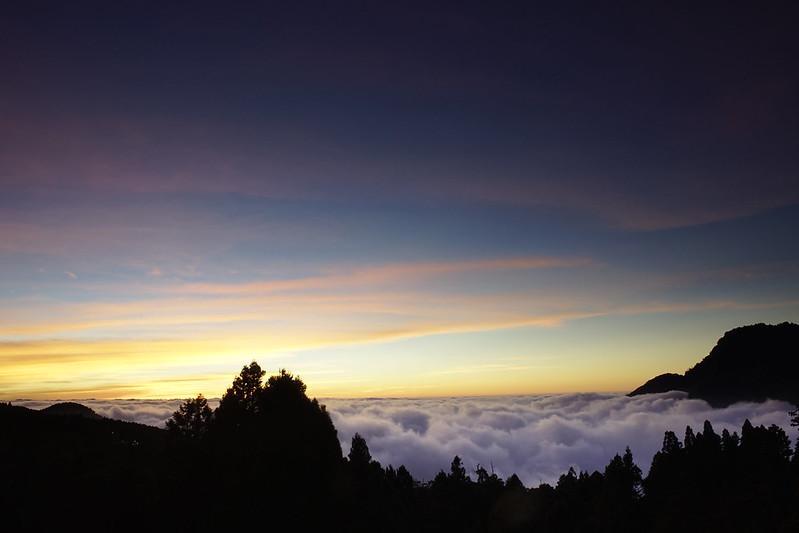 第一次搖黑卡之阿里山日落