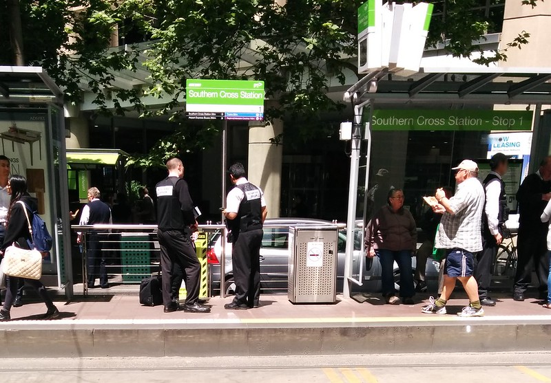 Authorised Officers at a tram stop