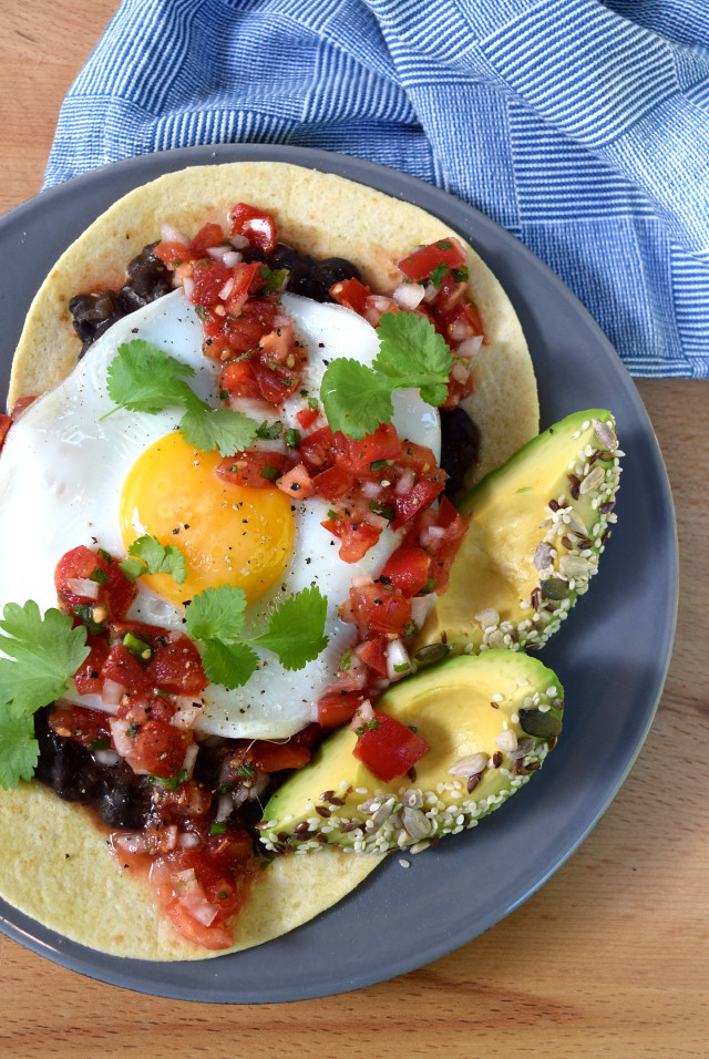 Huevos Rancheros with Seeded Avocado | www.rachelphipps.com @rachelphipps