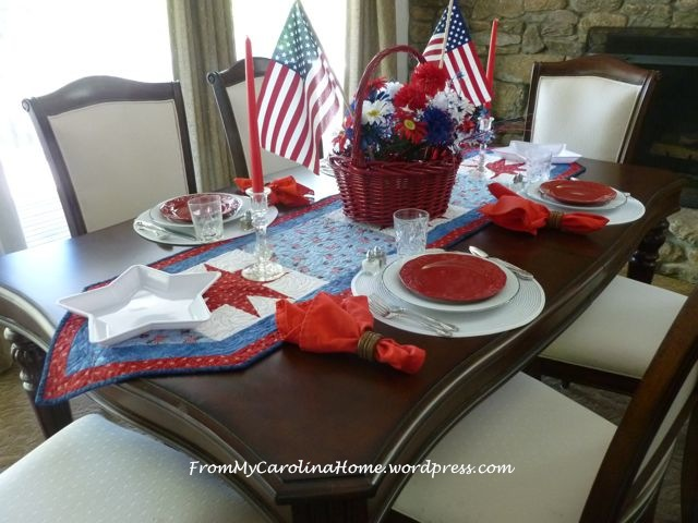 Patriotic Tablescape 1