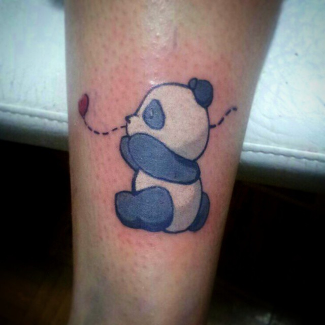 Ooooy que mono! Jajaja #tattoo #color #panda #EduMGZ #love