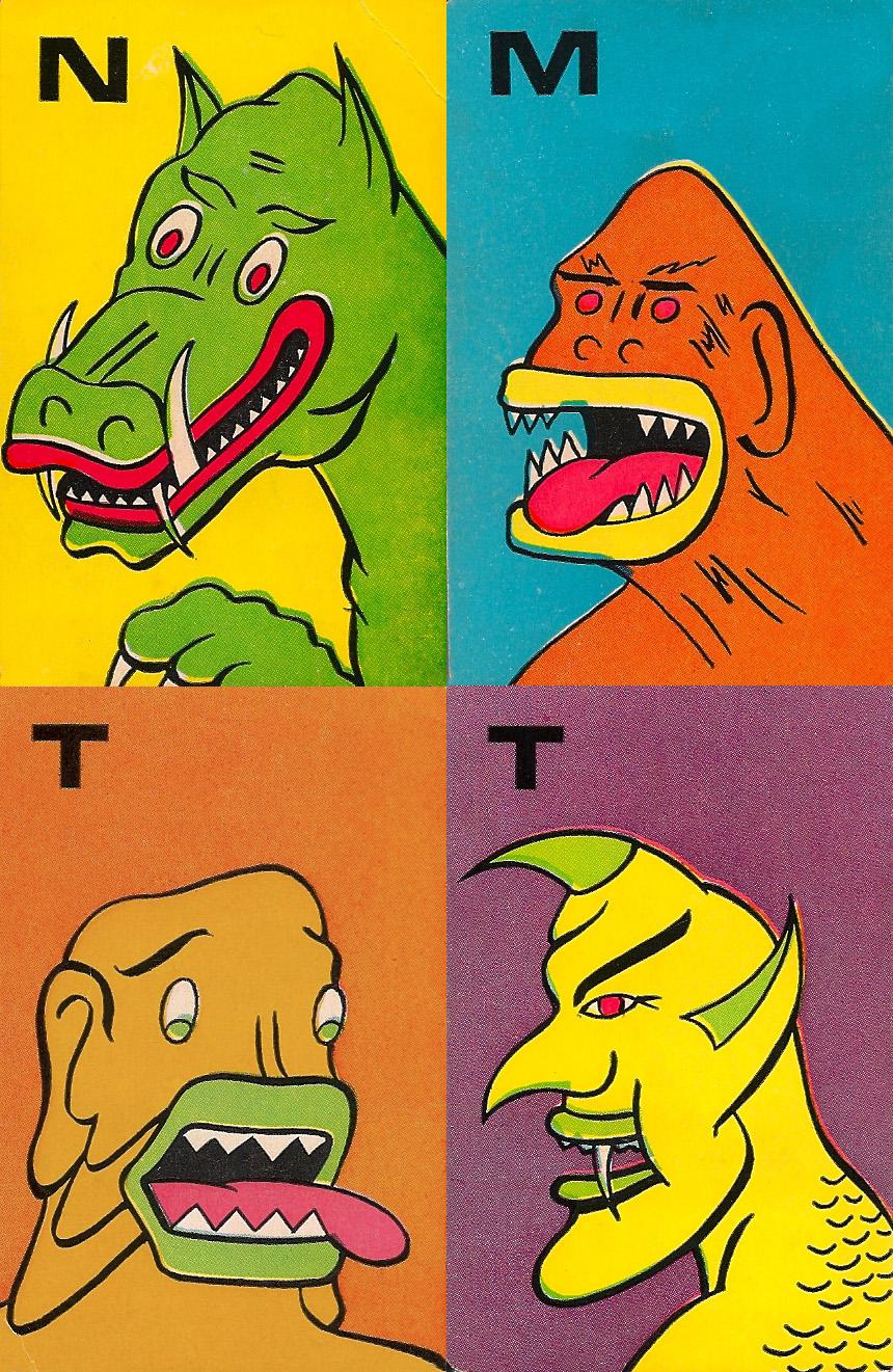 Monster Flip Cards - 6