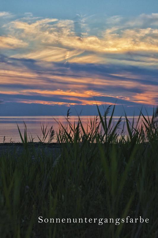Sonnenuntergangsfarbe