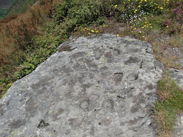 Petroglifo en la ruta do Ferro de O Incio