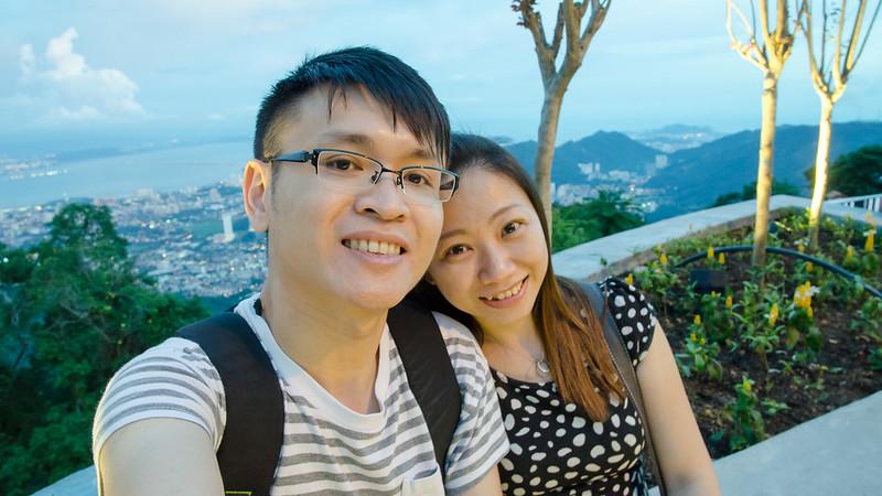 Laupoh and me at Penang Hill / Bukit Bendera