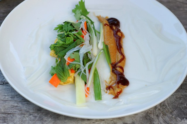 Rolling the fresh spring roll by Eve Fox, the Garden of Eating, copyright 2015
