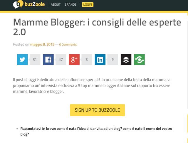 intervista alle mamme blogger su Buzzole