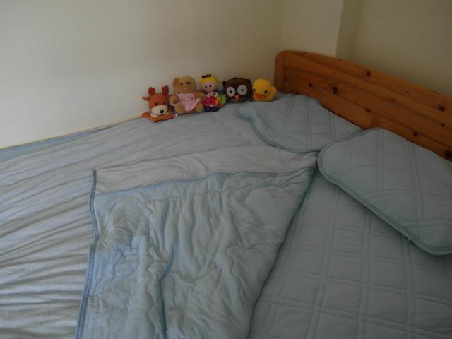 整組鋪起來的樣子@N Cool接觸涼感系列寢具