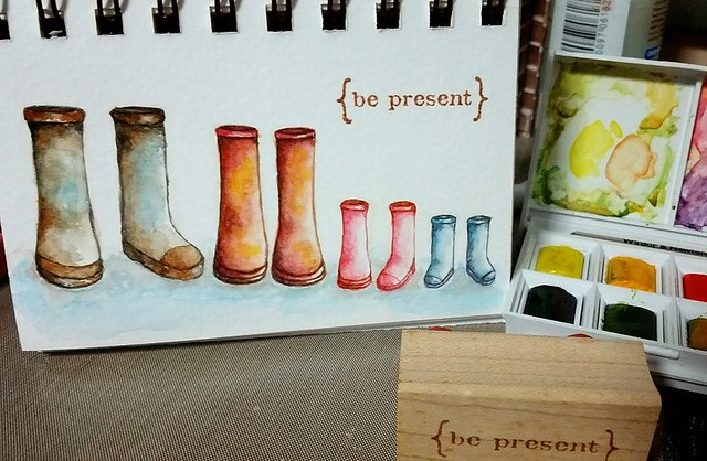 {Be Present} Watercolor