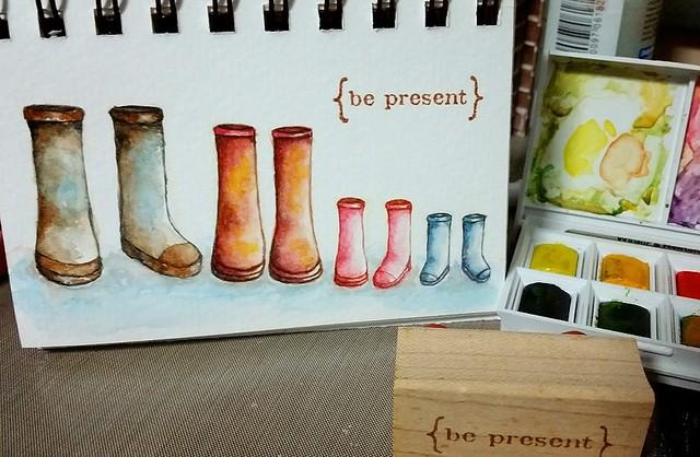 {Be Present} Watercolor