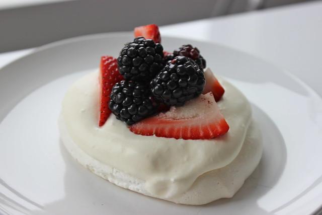 Summer Berry Pavlovas