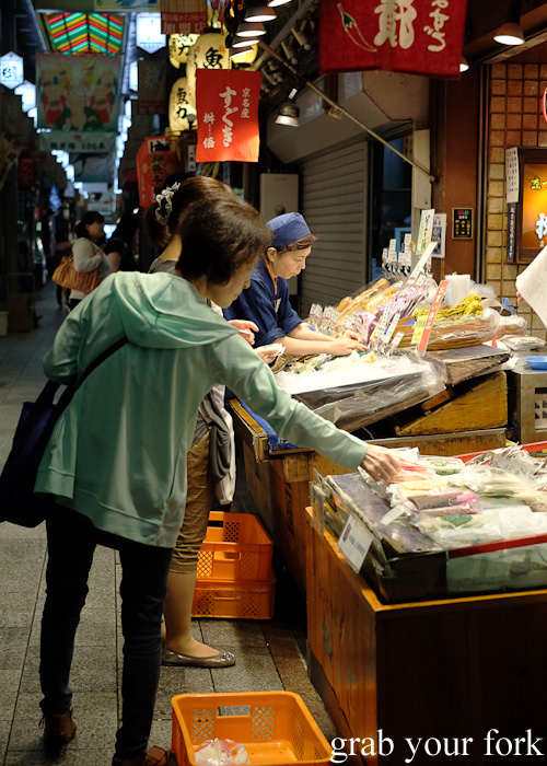 Shoppers at Nishiki Market, Kyoto