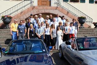 Gäste aus dem Ruhrgebiet auf der Schlosstreppe