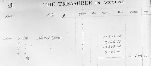 1868 Philadelphia Mint clippings receipt