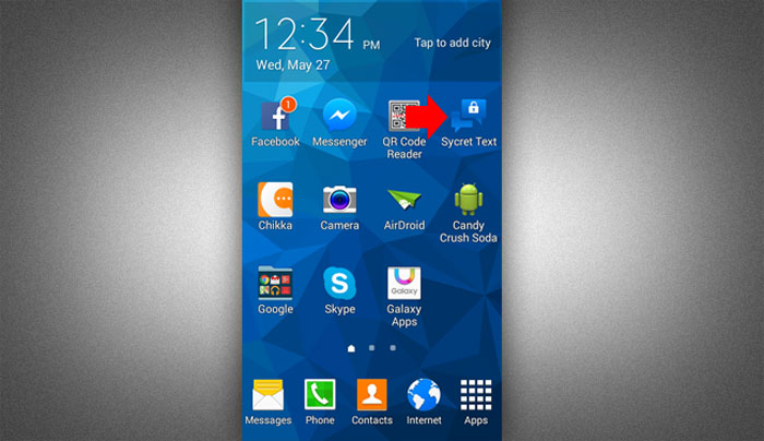 How to install sycret Text app ste 4.1