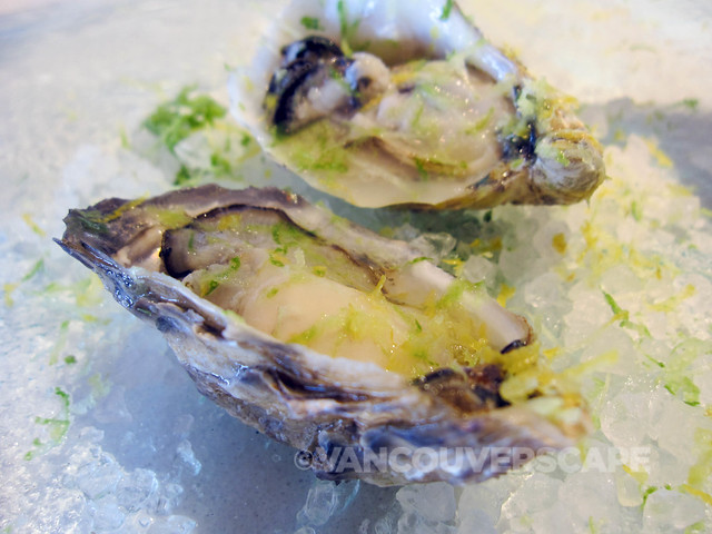 Oyster sampling at Pierside Kitchen, Semiahmoo Resort