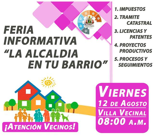 """Con gran éxito y asistencia 2ª feria informativa """"Alcaldía en tu Barrio"""""""