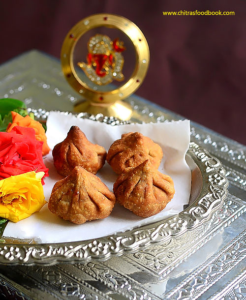 Fried Modak- How to make deep fried modak