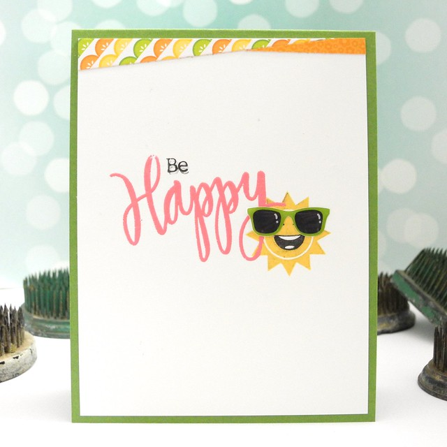 Be Happy by Jennifer Ingle using the Simon Says Stamp June 2015 Card Kit #simonsays #simonsaysstamp #simonsaysck #diy #cards