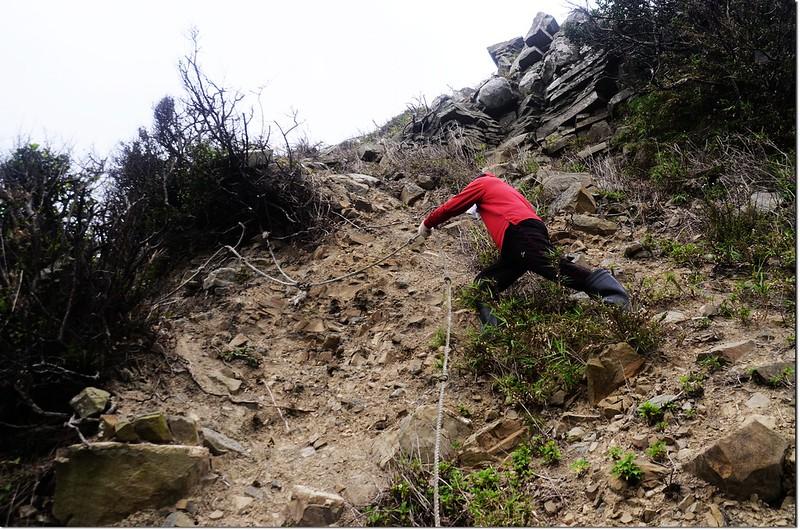 虎頭山登山途中崩塌地形 2
