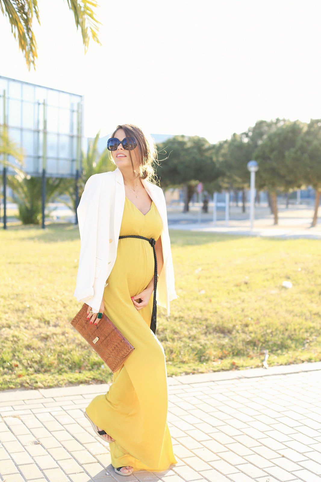 seams-for-a-desire-jessie-chanes-pregnant-formal-outfit-mustard-long-jumpsuit-tous-jewels_6