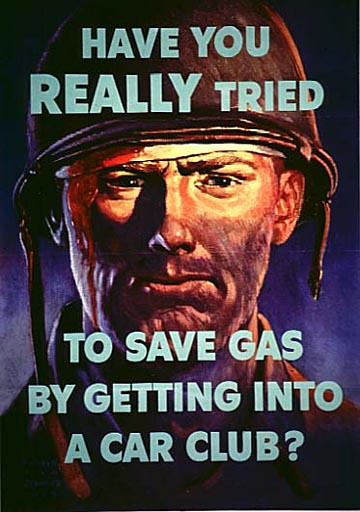 World War II Poster - Save Gas
