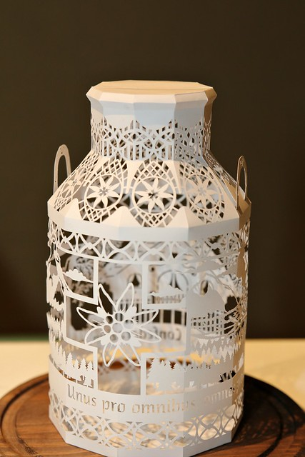 3D Cut Paper Milk Bottle by Norman Von Schmeling