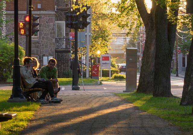 Parc Champlain au couché du Soleil
