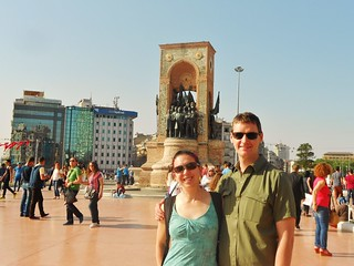 Clare and Dennis at Taksim Square | by fightgravity4evr