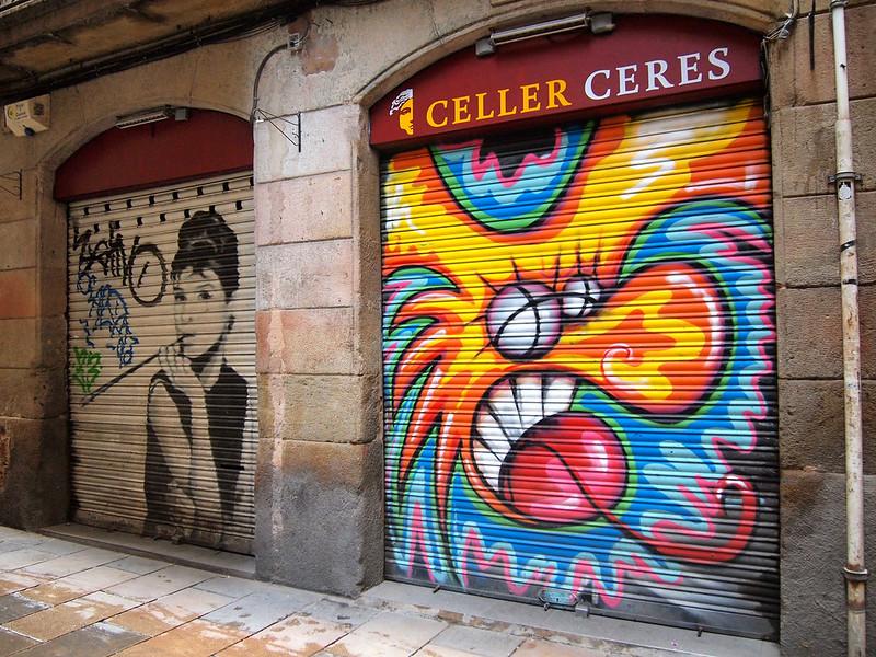Barcelona street art in El Born