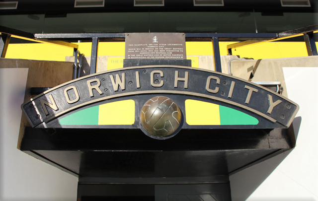 Picture of Steam locomotive nameplate above pitch entrance