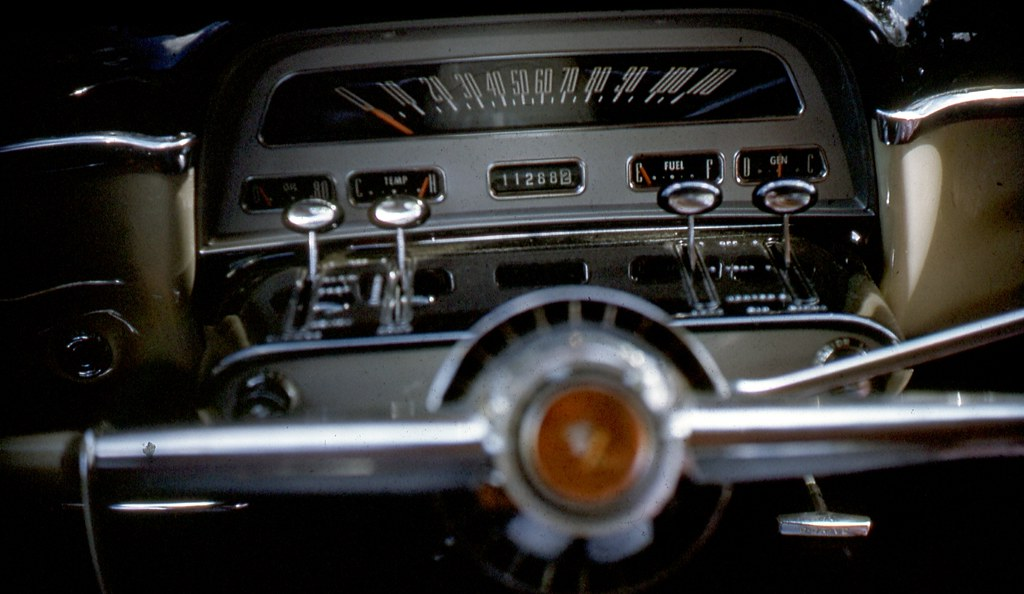1954 Mercury Monterey Dashboard 35mm Slide Collection Of