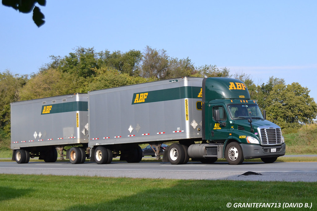 ABF Freight Freightliner Cascadia with Doubles | Trucks, Buses, & Trains by granitefan713 | Flickr