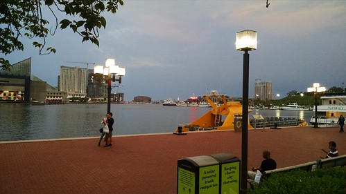 The Inner Harbor after the protests ended and the National Guard left.