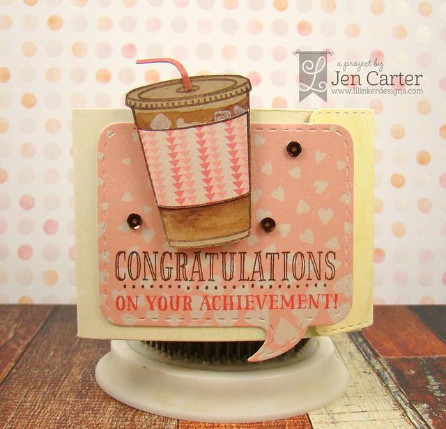 Jen Carter Iced Coffee Gift Card Holder Congratulations 1 wm