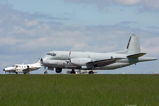 Embraer EMB-121AN Xingu '77' and  Atlantique ATL2 '27'   at EGFF/CWL  26 may 2015