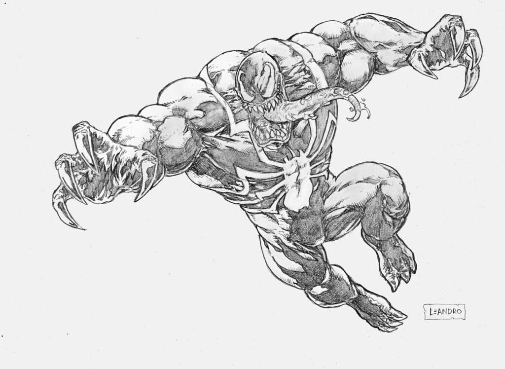 Desenho Do Venom Feito Como Tema De Um Sketch