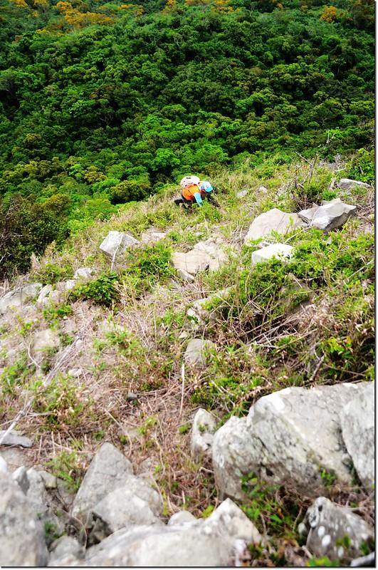 虎頭山登山途中崩塌地形 3